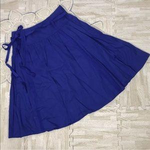 💎 LONDON Jean Cotton Chino Skirt Royal Blue SZ 4